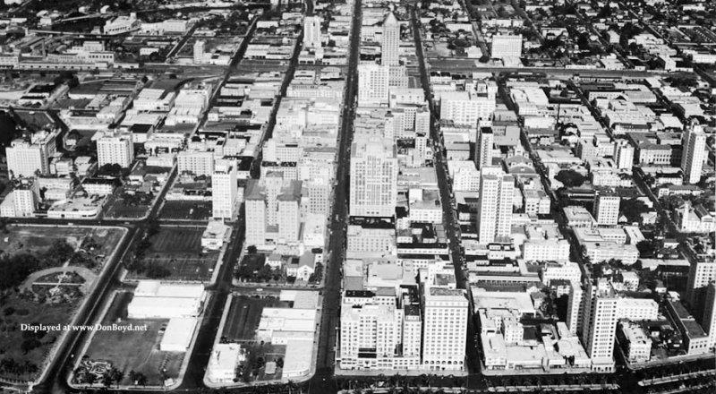 1942-45 - closeup of downtown Miami