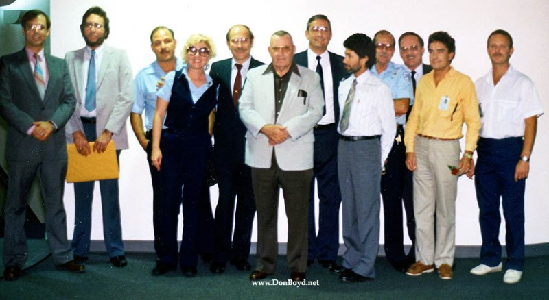 1988 - permanent and acting Airside Operations Ramp Ones at Connie and Virginia ORegans retirement party