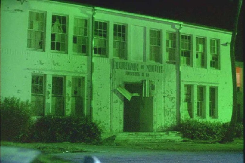 1987 - old South Beach Elementary School - scene from Miami Vice episode