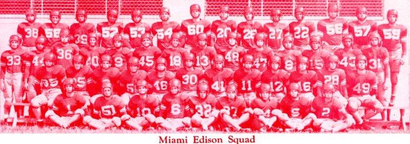 1952 - Miami Edison High School Football Squad
