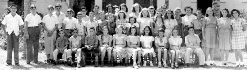 1946 - closeup of the 6th grade class at Shenandoah Elementary School, Miami