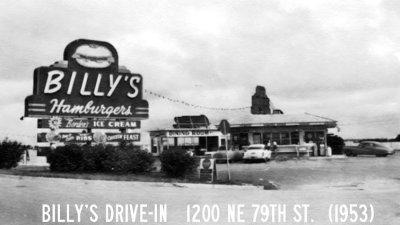 1953 - Billys Drive-In (formerly Kellys) on the bay and 79th Street Causeway