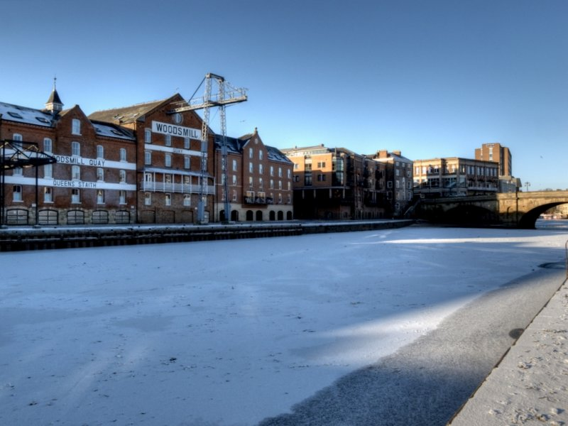 Woodsmill Quay And The Frozen Ouse