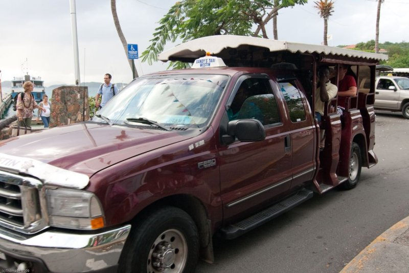 c3383 Typical Taxi in Cruz Bay
