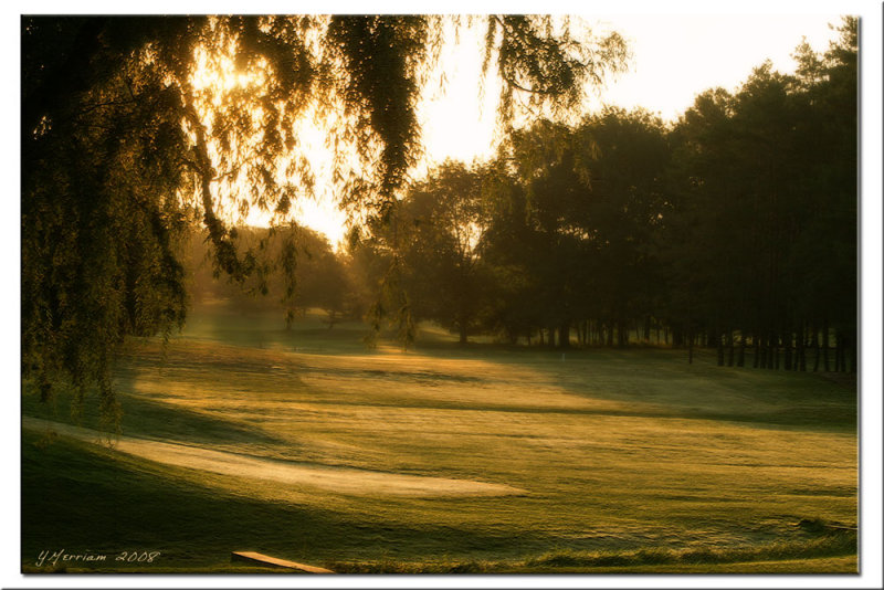 Sunrise Over Hole No. 2 ~ Trumansburg Country Club
