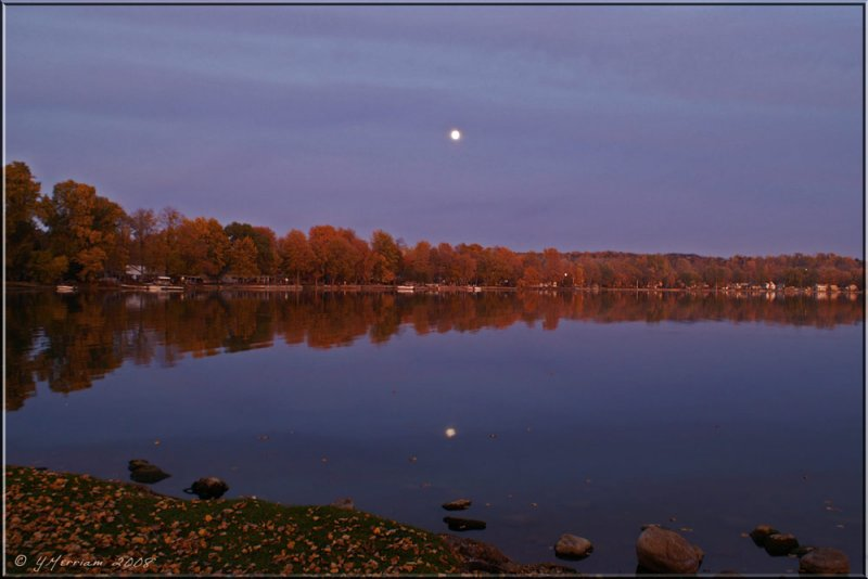Moonrise Over Conesus Lake