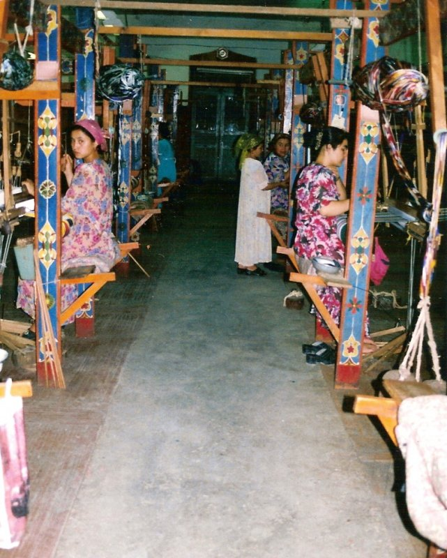 Traditional silk weaving hall