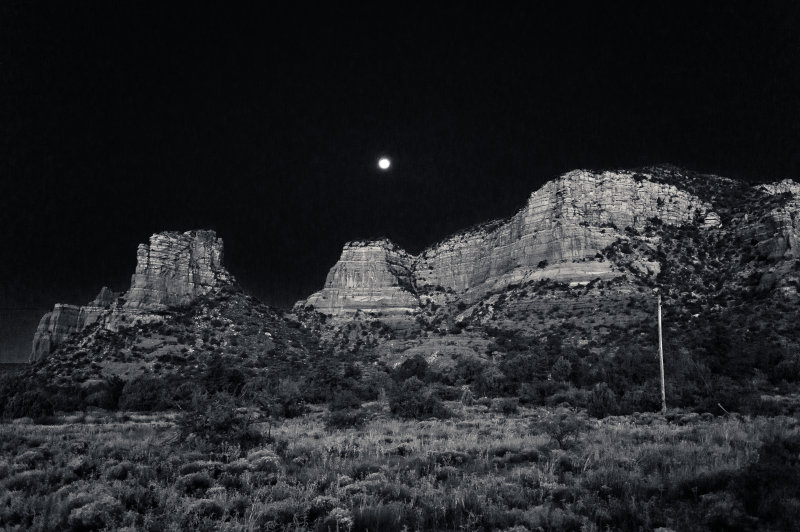 Moonrise Black and White