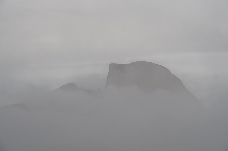 Half Dome in the Mist
