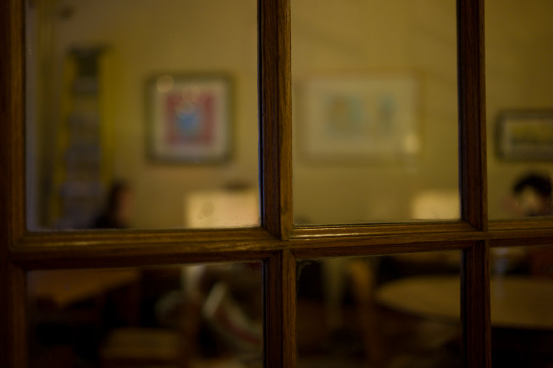 Through the Glass Door (Cafe Kopi)