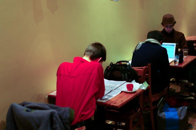 Red Shirt at Aroma