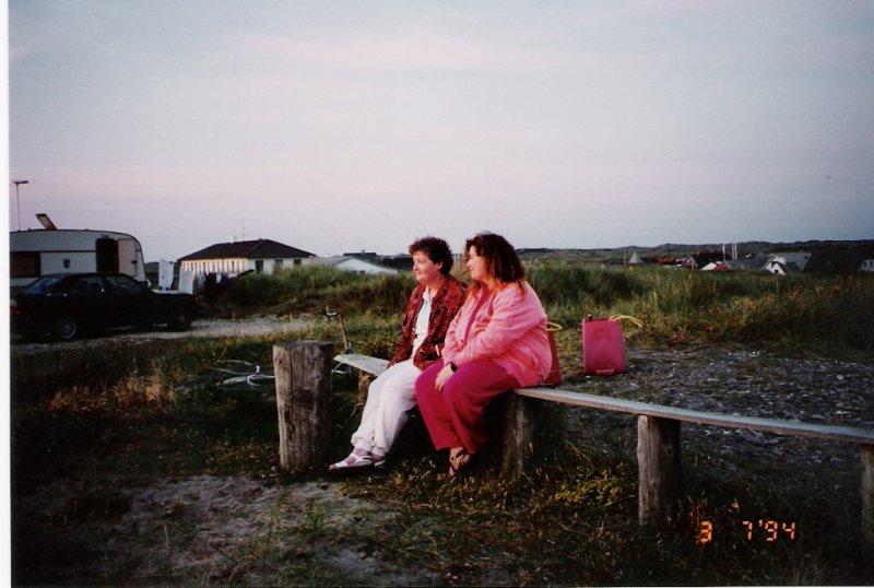 Vorupør camping My wife & daughter