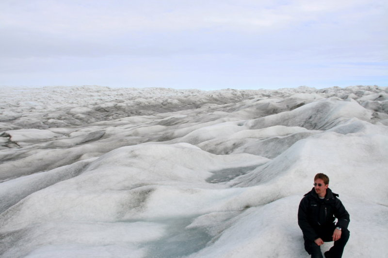Self portrait on the inland ice