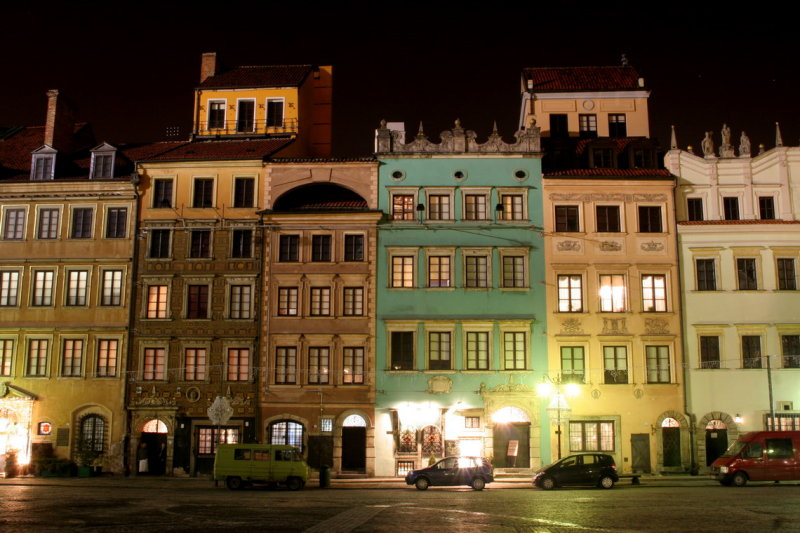 Marketplace in the oldtown of Warsaw (Poland)