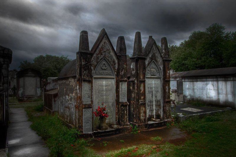A Scene from Lafayette Cemetery - New Orleans