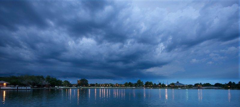 Storm over Lafreniere Park