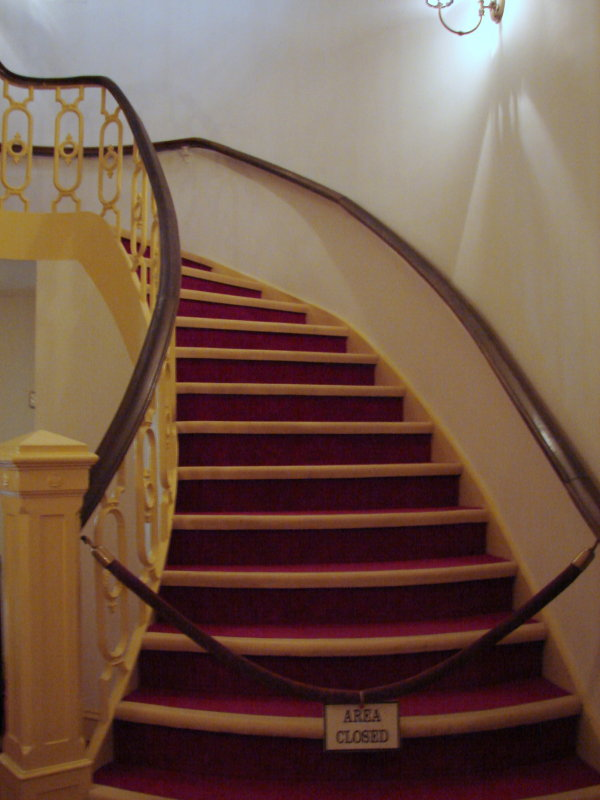 Stairs leading to upper levels