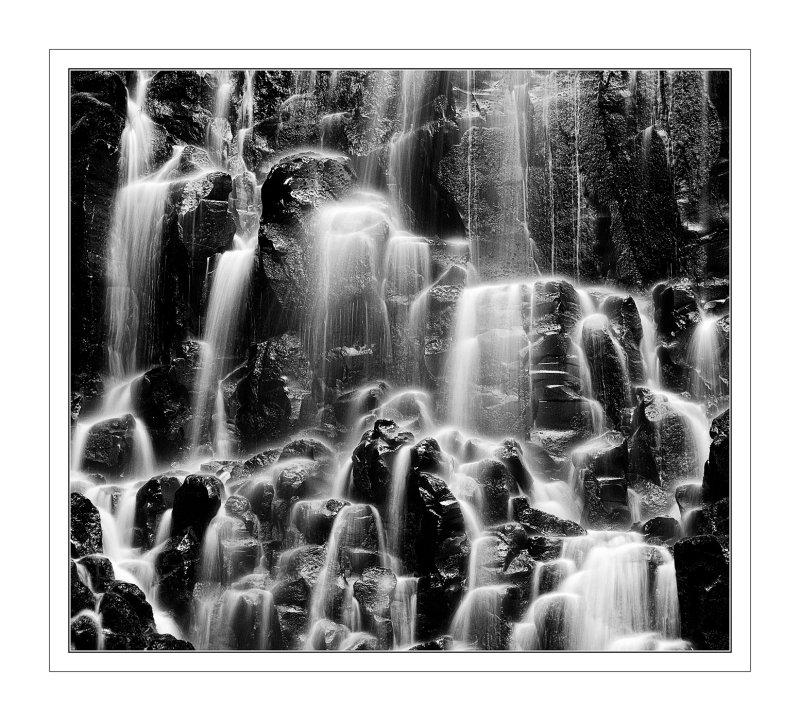Ramona Falls in Black and White