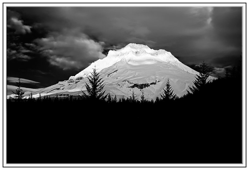 Mt Hood in B&W