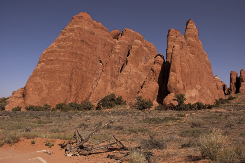 Near Broken and Sand Dune Arch -- Arches National Park