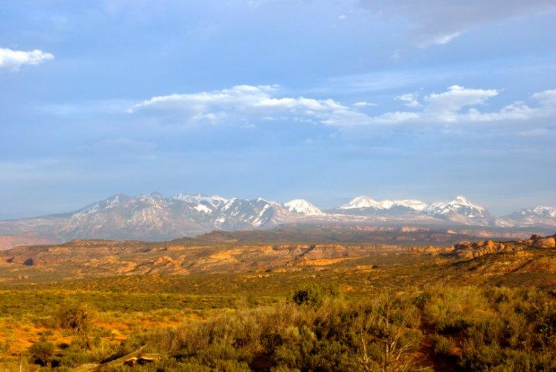 La Sal Mountains - Arches National Park