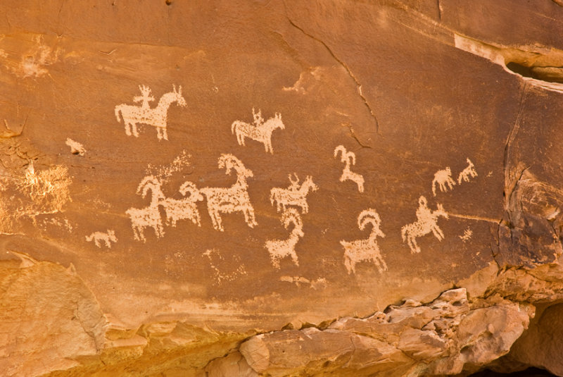 Petroglyphs near Delicate Arch