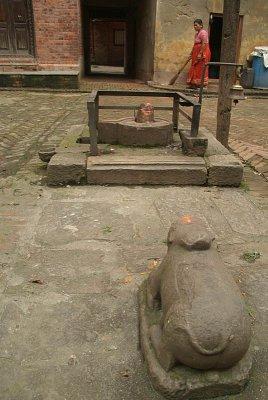Nandi in Courtyard Bhaktapur