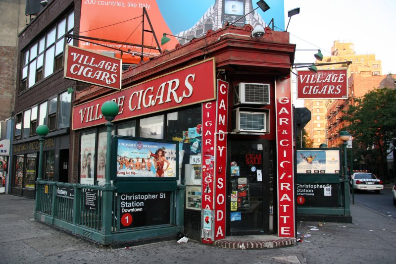 Village Cigar Store & Christopher Street Subway Station