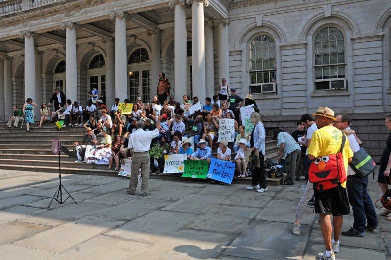 NYC Community Gardens Coalition City Hall Rally