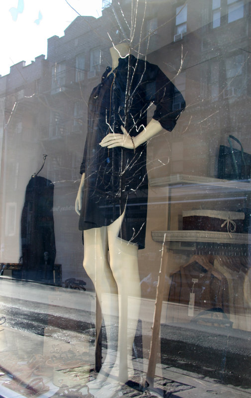 Boutique Window with Reflection