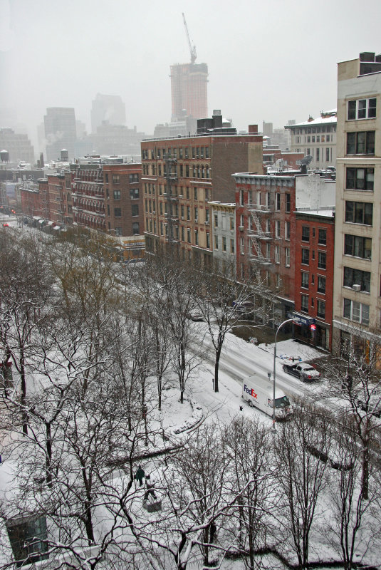 Morning Snow - Downtown View