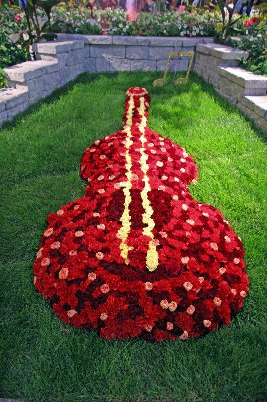 Flower Show - Guitar Floral Arrangement