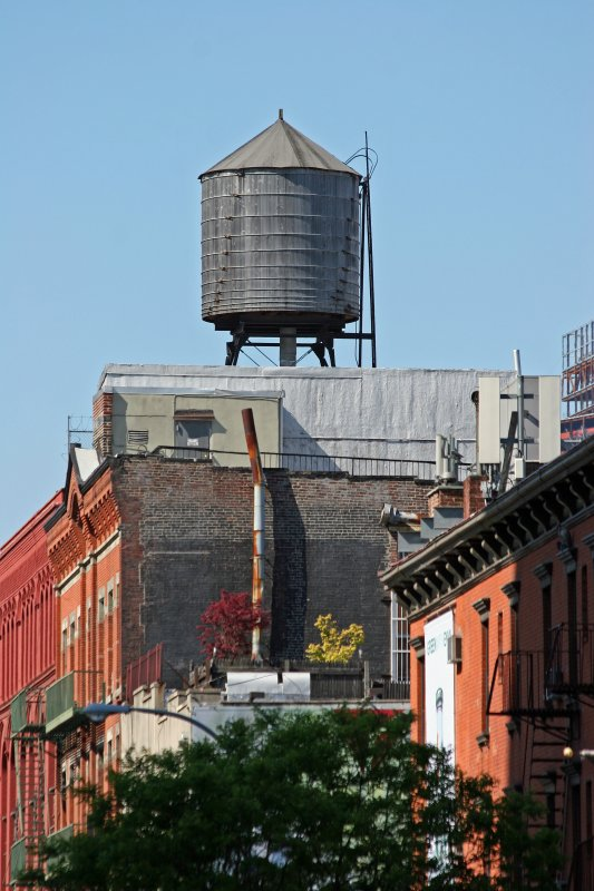 Water Tank at West Houston & West Broadway