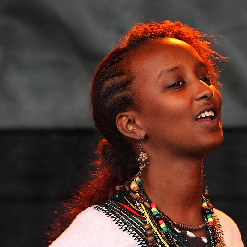 Dancing woman representing the ethopian community...