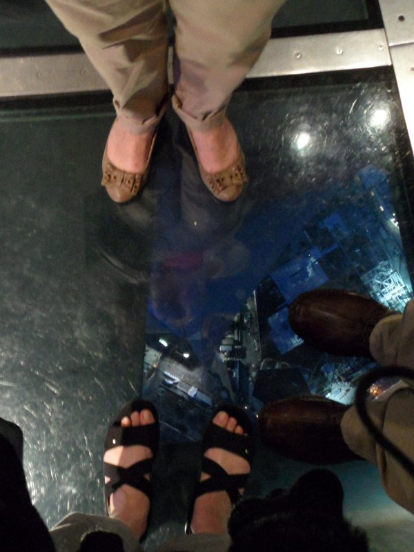 Six feet of Neweys on only 1.5 of laminated glass, yikes!!