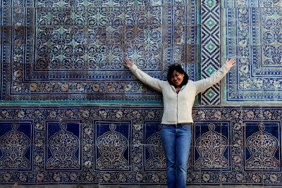 Me! In Khiva, Uzbekistan