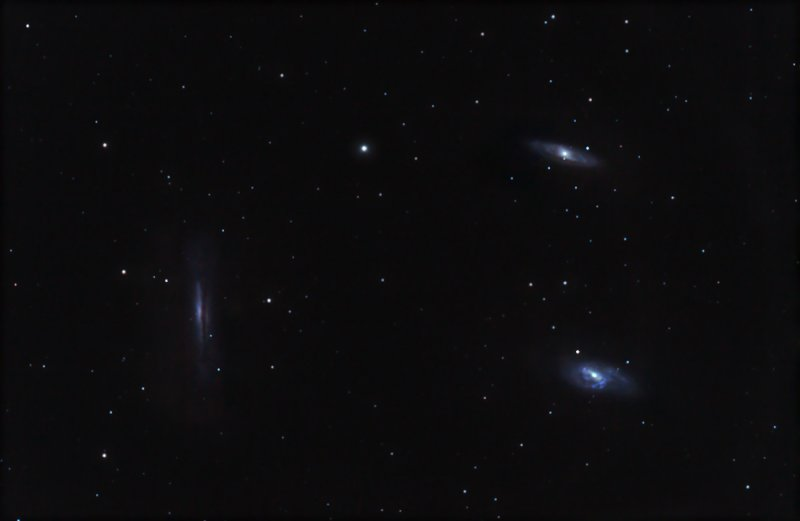 Leo Triplet - M65, M66, and NGC 3628