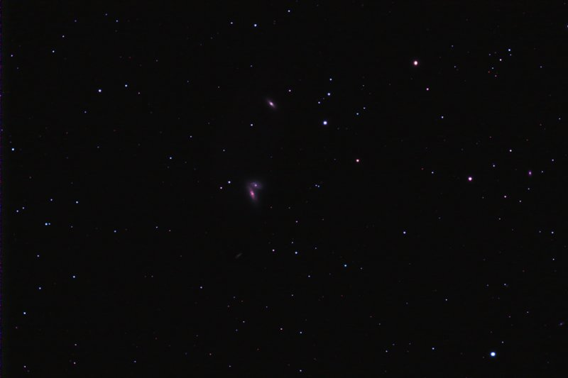 NGC4567-68 The Siamese Galaxies in Virgo w/NGC4564 and IC3578 Dwarf Galaxy