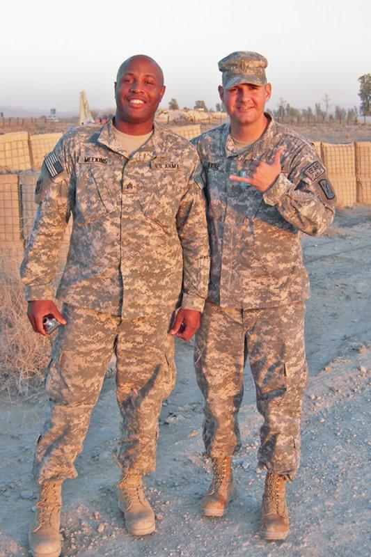 David and Sgt. Meekins