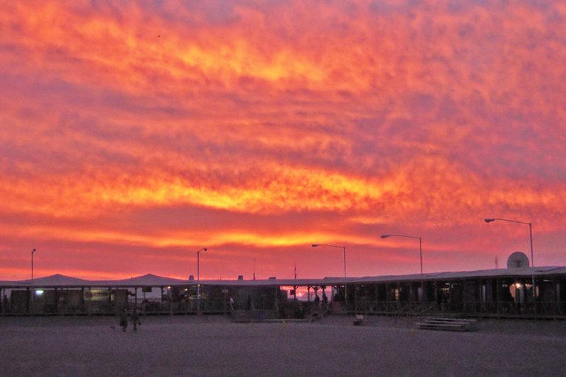 Sunset at KAF