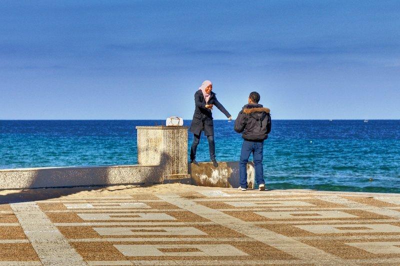 Couple 2 Sousse Beach
