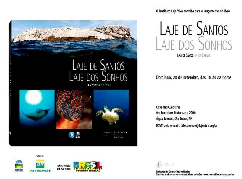 Lançamento do Livro - Laje de Santos - Laje dos Sonhos