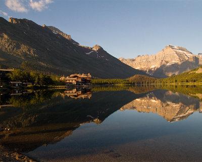 Many Glacier Hotel Reflection.jpg