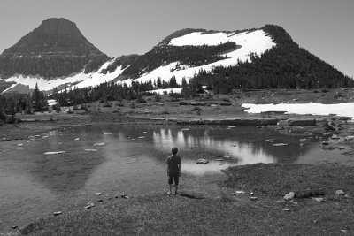 Boy at the Pond at Logan Pass.jpg