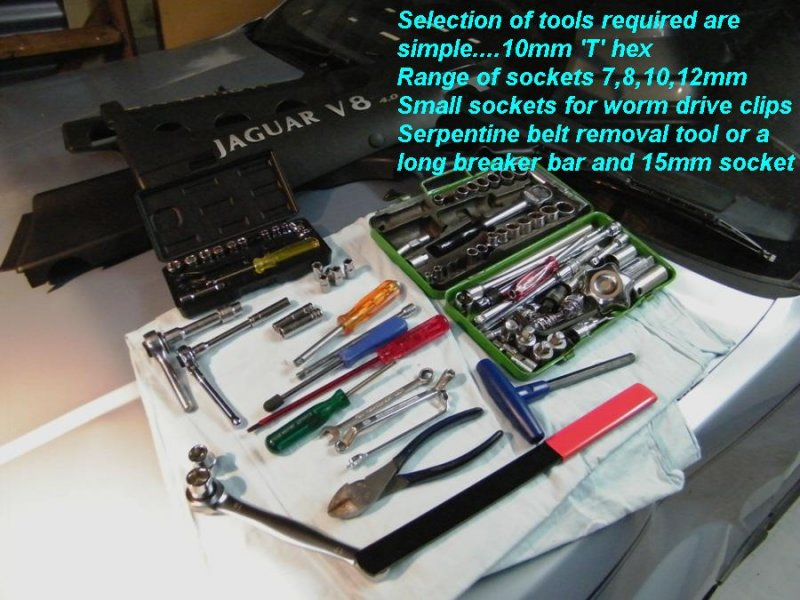The tools required are quite few and simple