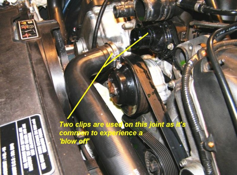 Remove top hose to gain better access to tube bolts