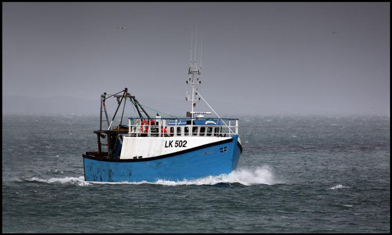 Atlantia coming in to Lerwick harbour