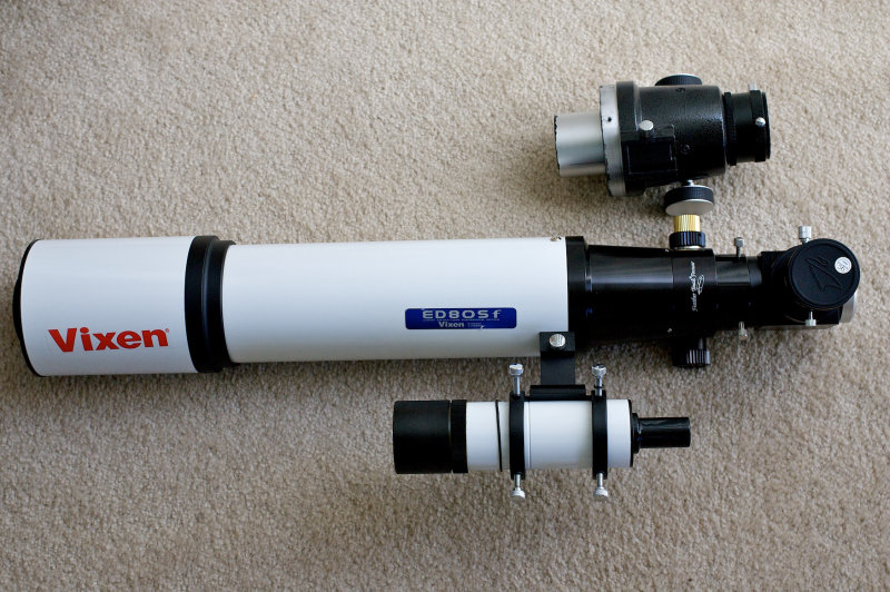 Vixen ED80SF stock focuser and FT focuser