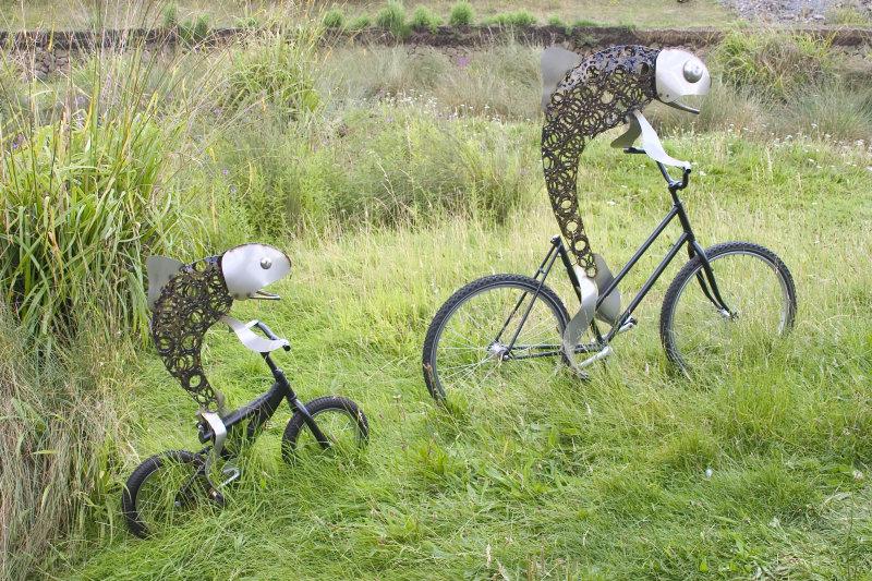 Bicycle-riding fish
