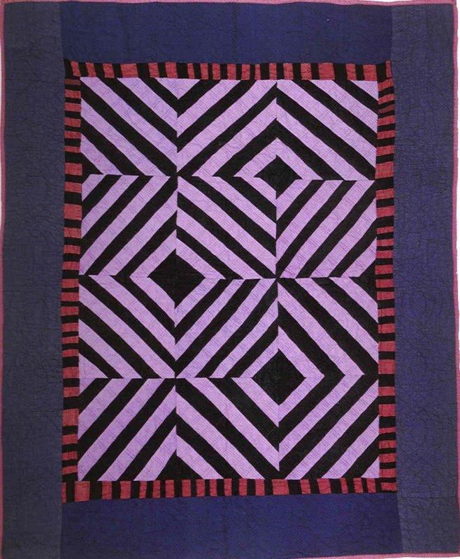 Roman Stripes crib quilt-Kansas 1920-30